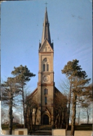 First postcard from Latvia, a beautiful Evangelical Lutheran Church (1891)